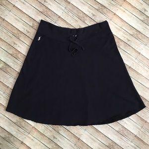 Navy Blue Ralph Lauren Sweatshirt A-Line Skirt